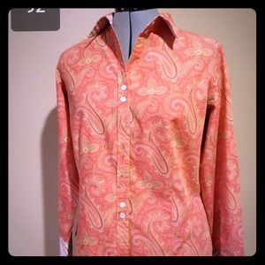 Liz Claiborne Pink and coral blouse